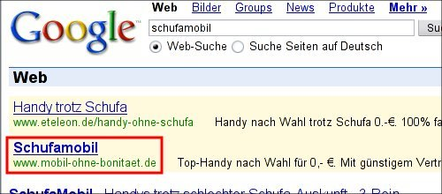GoogleAd Schufamobil