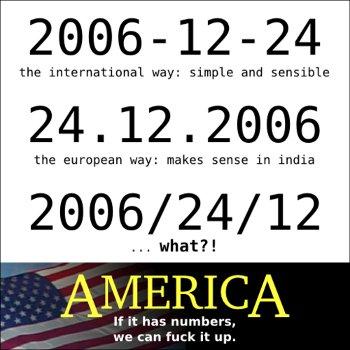 Amerikanisches Datumsformat