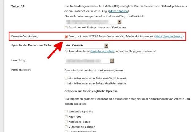 Screenshot von Benutzer - Persönliche Einstellungen