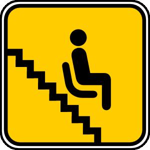 Treppenlift Piktogramm