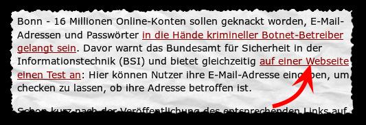 E-Mail-Check beim BSI