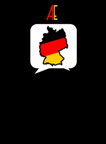 Zwei Figuren reden über Deutschland