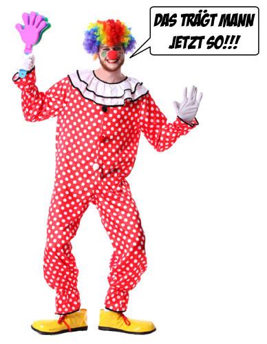 Clown mit Sprechblase