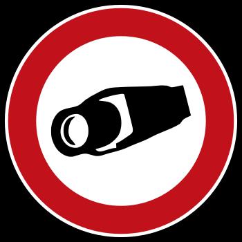 Verbotsschild Ueberwachungskamera