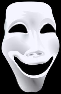 Lachende Maske