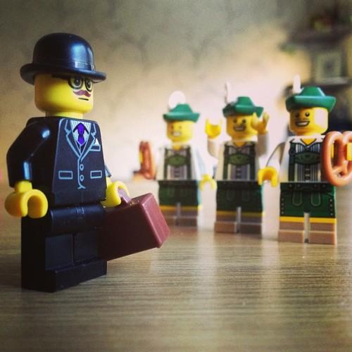 Stereotype deutsche Legofiguren