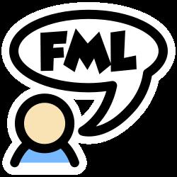 Usericon mit Sprechblase FML